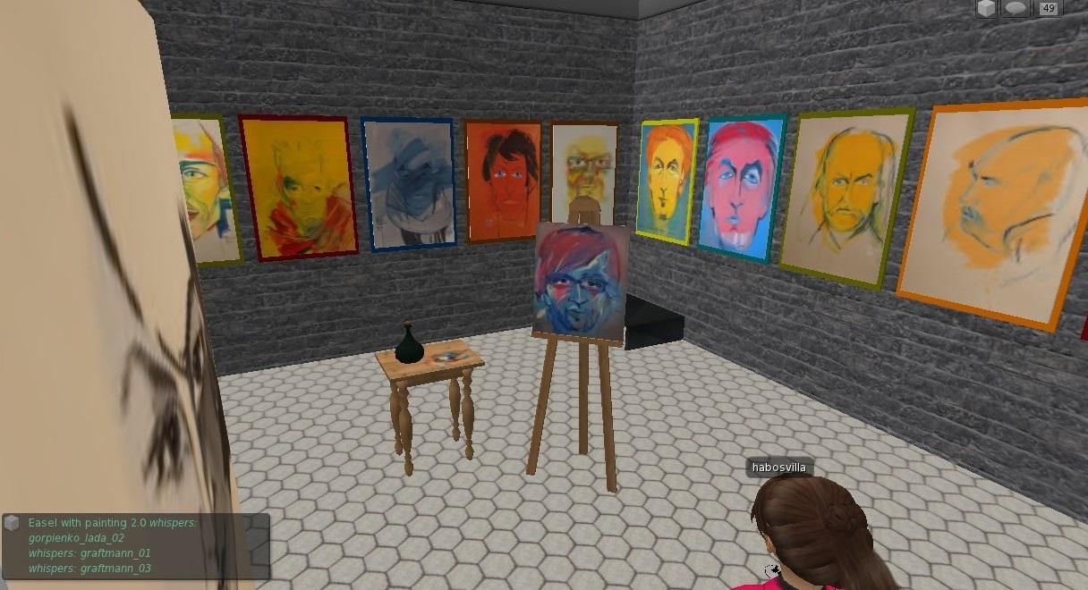 Interaktív festőpaletta a Galeria Mactelo-ban